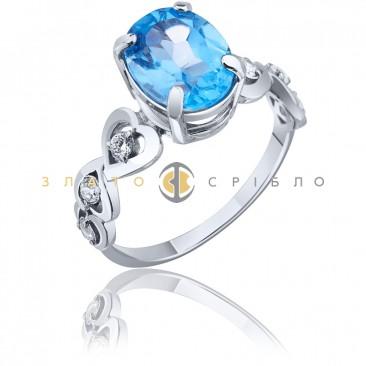 Серебряное кольцо «Небесная гладь»