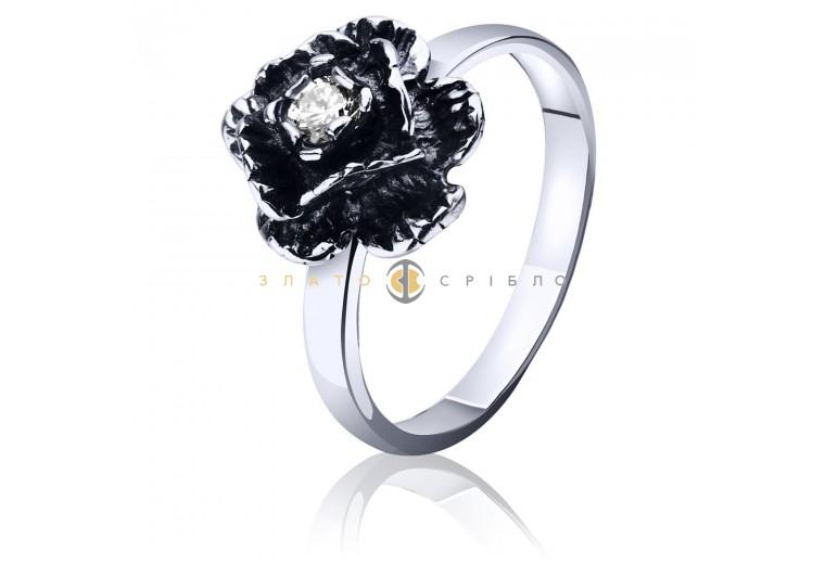Серебряное кольцо «Роза»