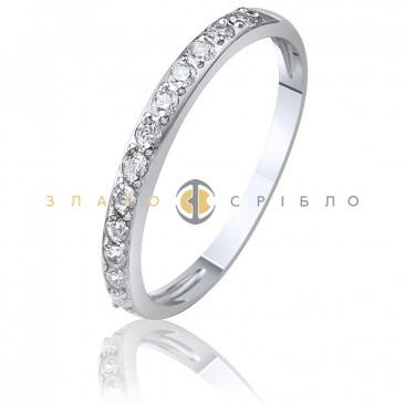 Серебряное кольцо с белыми фианитами