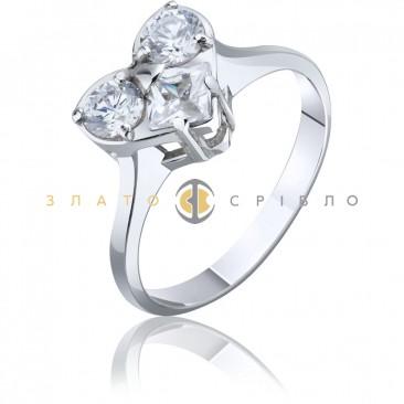 """Серебряное кольцо """"Таис""""c фианитом"""