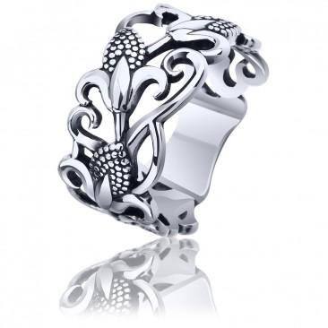 Срібна каблучка «Запах лілії»