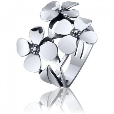 Серебряное кольцо «Букет»