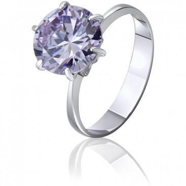 Серебряное кольцо «Игра цвета»