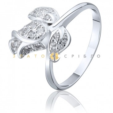 Серебряное кольцо «Бутон розы»