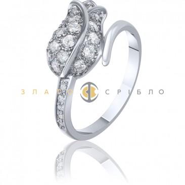 Серебряное кольцо «Тюльпан»