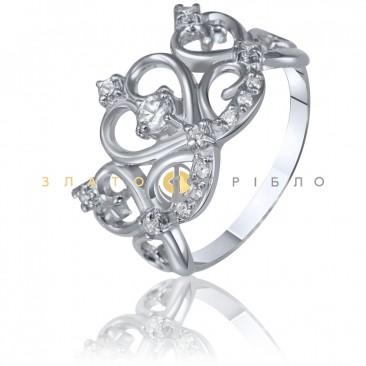 Серебряное кольцо «Королева»