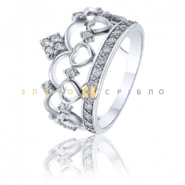 Серебряное кольцо «Коронация»