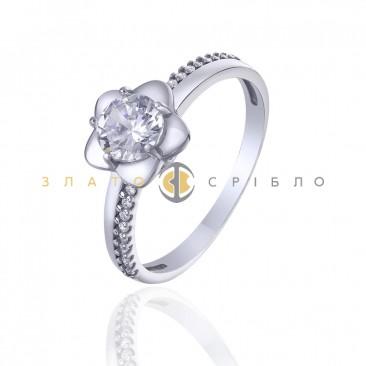 Серебряное кольцо «Elegant flower»
