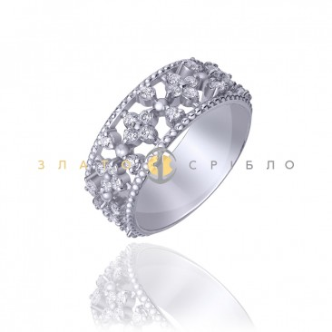 Серебряное кольцо «Прима»