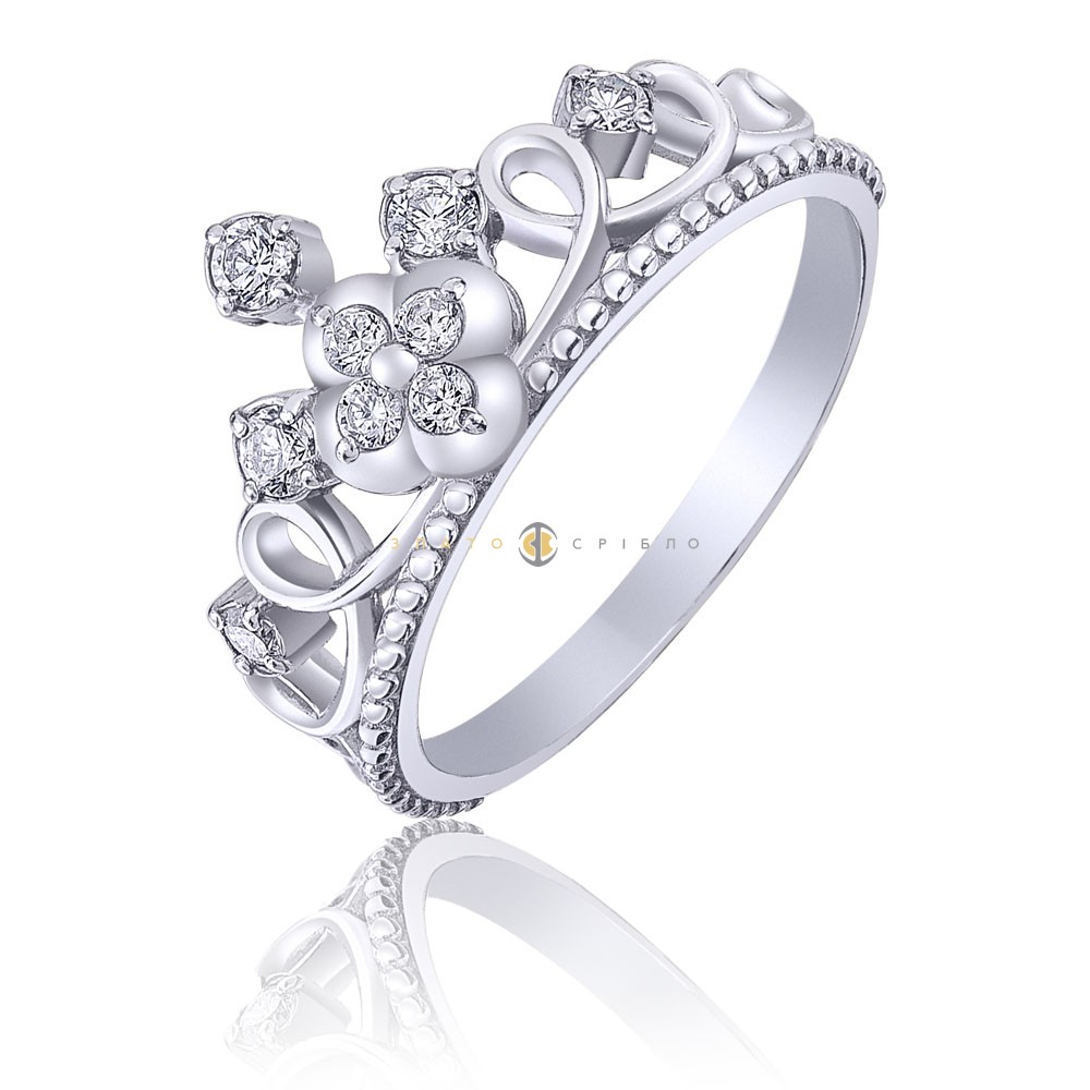 Серебряное кольцо «Принцесса Кэтрин» в интернет-магазине «ЗлатоСрібло» daf1efc706998