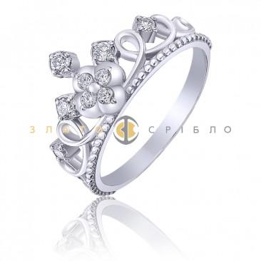 Серебряное кольцо «Принцесса Кэтрин»