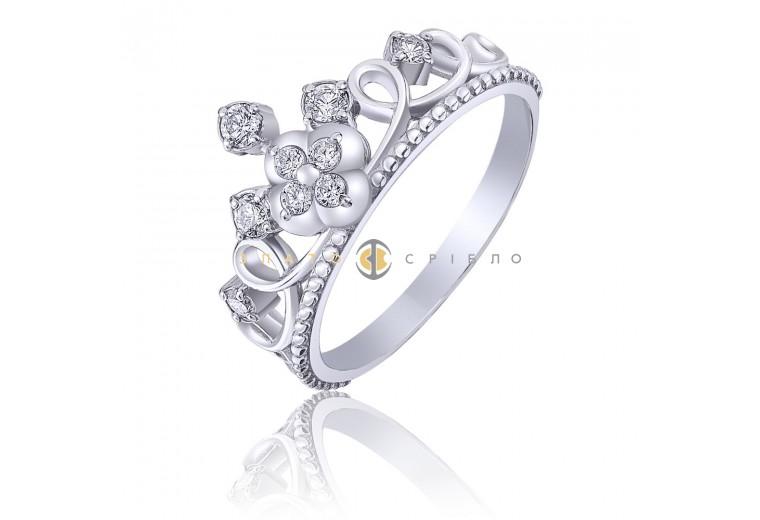 Срібна каблучка «Принцеса Кэтрін»