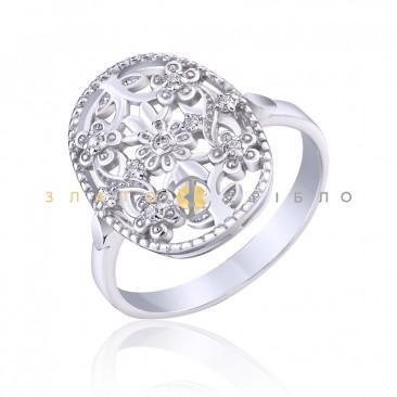 """Серебряное кольцо """"Цветочное настроение"""""""