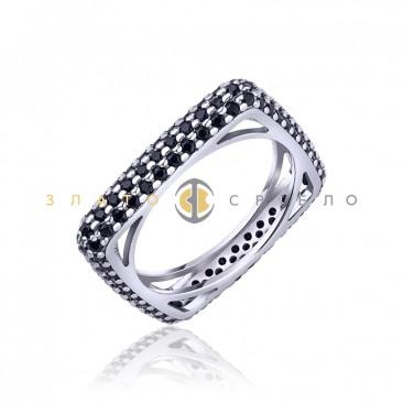 Серебряное кольцо «Модерн»