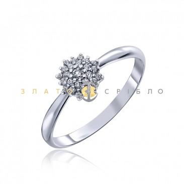 Серебряное кольцо «Снежинка»