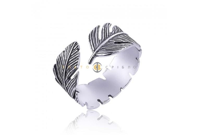 Серебряное кольцо «Перышко»