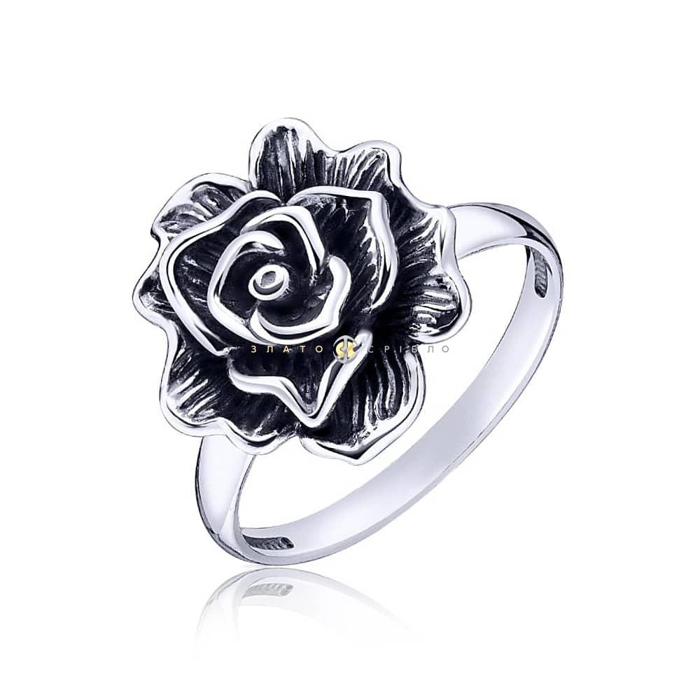 Срібна каблучка «Королева квітів» в интернет-магазине «ЗлатоСрібло» 82261e7747cb3