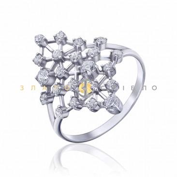 Серебряное кольцо «Зимние узоры»
