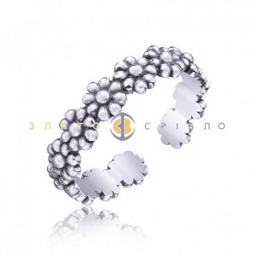 Серебряное кольцо «Цветочные поля»