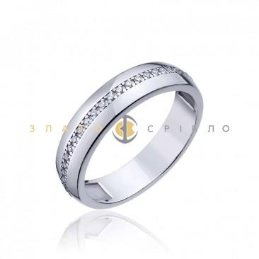 Серебряное кольцо «Moment»
