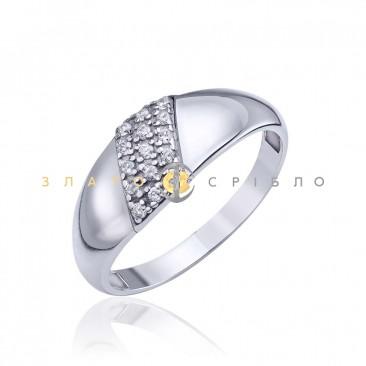 Серебряное кольцо «В плену у моды» с фианитами