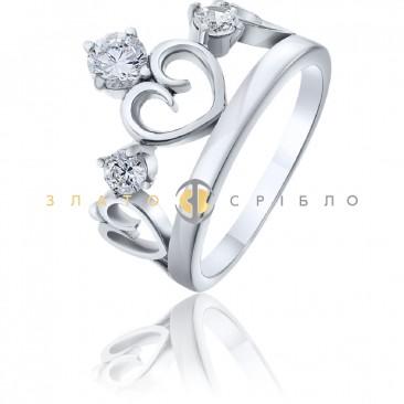Срібна каблучка «Цариця»