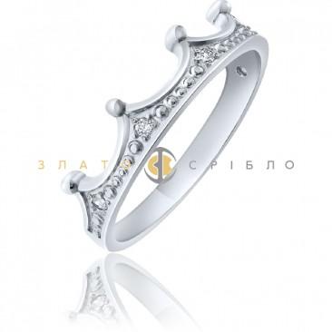 Срібна каблучка «Попелюшка»