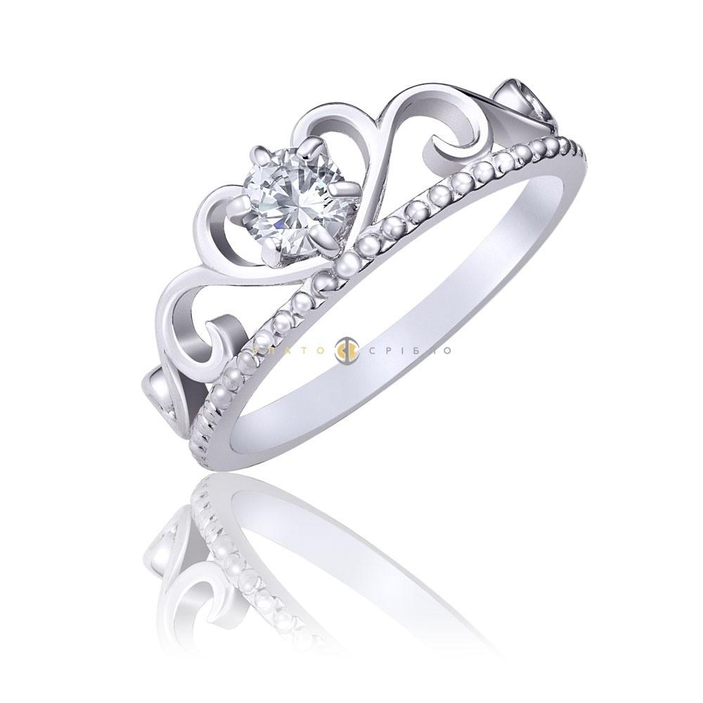 Срібна каблучка «Diadem» в интернет-магазине «ЗлатоСрібло» 3f9684b36fa4f
