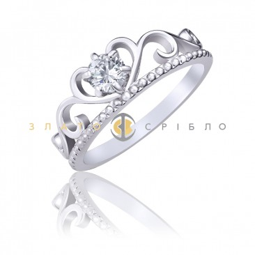 Серебряное кольцо «Diadem»