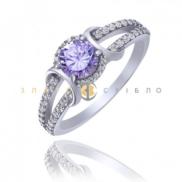 Серебряное кольцо «Лаванда»