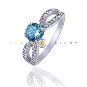 Серебряное кольцо «Лагуна»