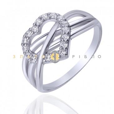 """Серебряное кольцо """"Признание в любви"""""""