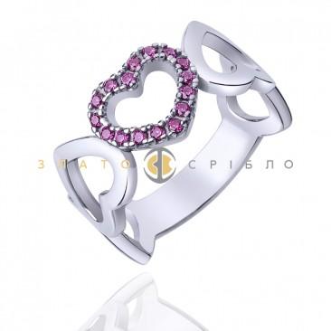 """Серебряное кольцо """"Вечная любовь"""""""