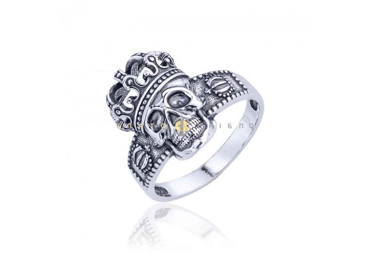 Серебряное кольцо «Эпатажный  череп»