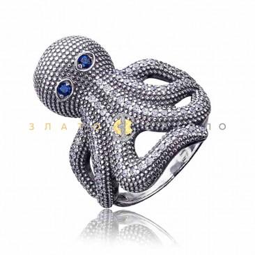 Серебряное кольцо «Осьминог»