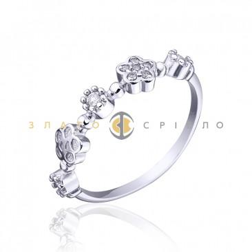 Серебряное кольцо «Летняя фантазия»