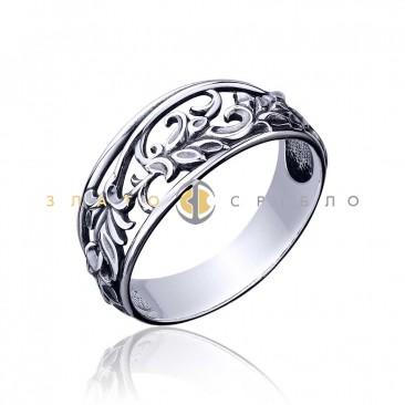 Серебряное кольцо «Барвинок»
