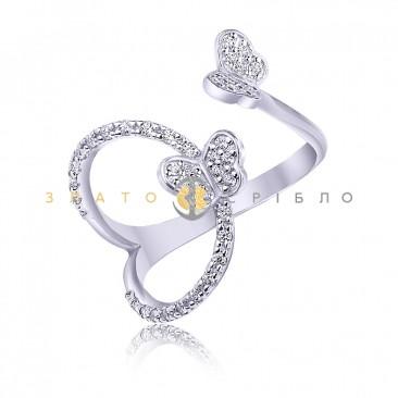 Серебряное кольцо «Мотыльки»