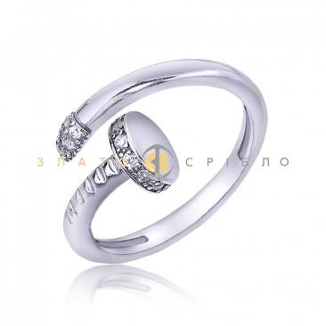 Серебряное кольцо «Гвоздь»