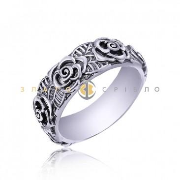 Серебряное кольцо «Венок из роз»