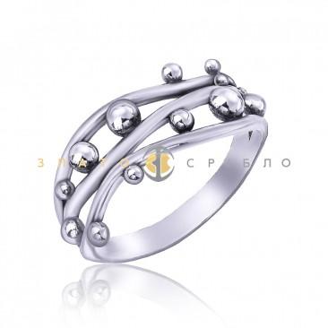 Серебряное кольцо «Капельки росы»