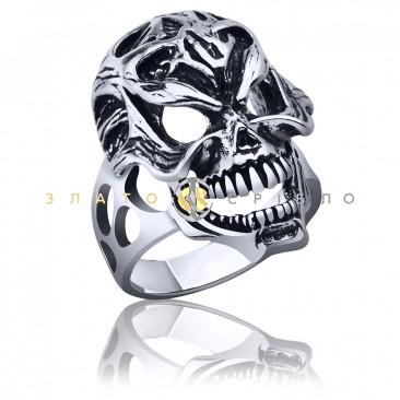 Серебряный перстень «Череп»