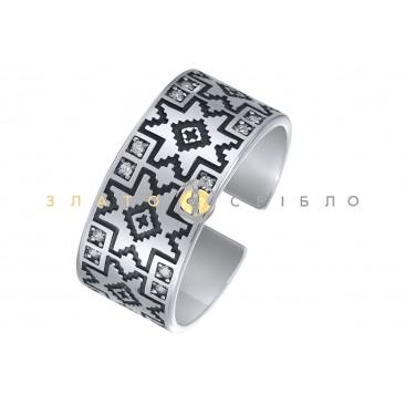 Серебряное кольцо «Вышиванка»