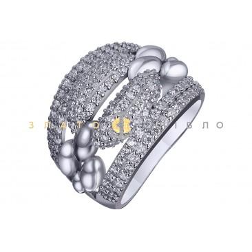 Серебряное кольцо c фианитом