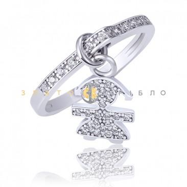 Серебряное кольцо «Девочка»