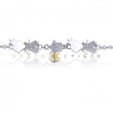 Серебряный браслет «Мамины сыновья»