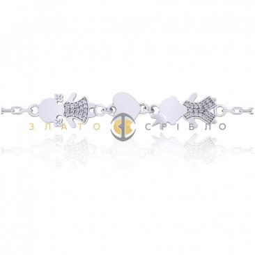 Серебряный браслет «Мамино счастье»