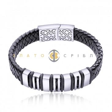 Срібний браслет «Men's style»