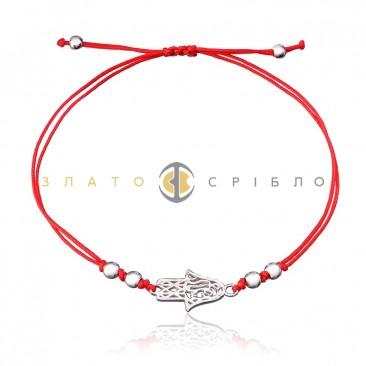 Серебряный браслет «Ладонь»