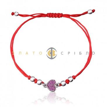 Серебряный браслет «Любовь в сердце»